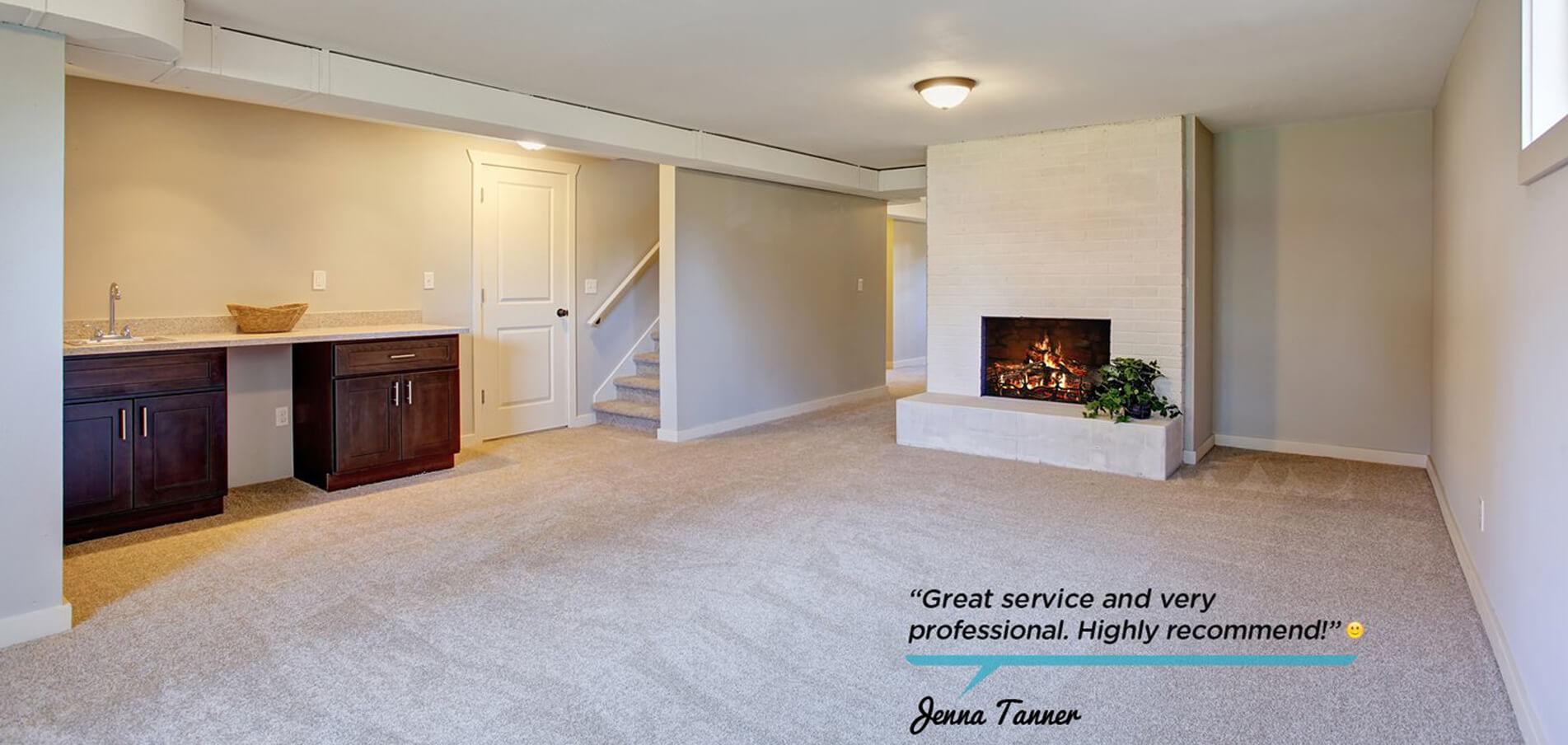Basement Clean Carpet
